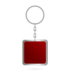 creative of metal keychains vector image