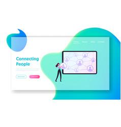 Customer base referral program business vector