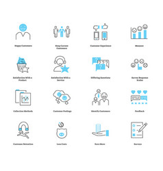 Customer satisfaction icon collection set vector