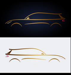 design luxury yellow car for your design vector image