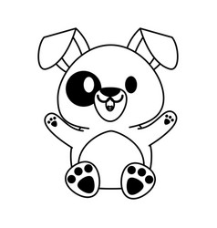 dog or puppy cute animal cartoon icon image vector image
