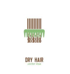 Dry hair icon vector