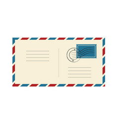 Envelope with stamp and postmark international vector