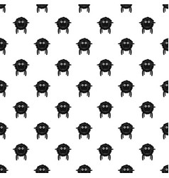 Face of sheep pattern seamless vector