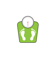 Floor scales solid icon human footprints vector