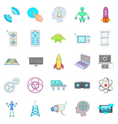 future generations icons set cartoon style vector image