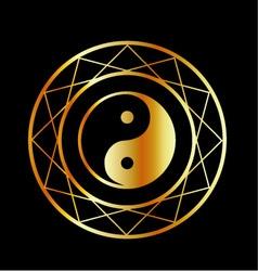 Golden symbol of Taoism Daoism vector image