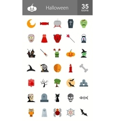 Halloween iconset can also be used for observances vector