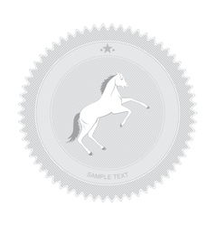 Horse Badge vector image