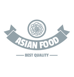 Hot asian food logo simple gray style vector
