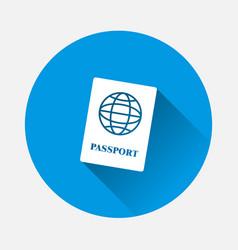 International passport on blue background with vector
