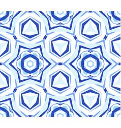 Kaleidoscope white blue star background vector