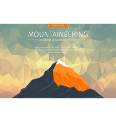 Landscape With Mountain Peak vector