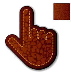 Leather click hand cursor vector