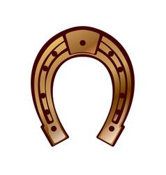 lucky - horseshoe design vector image