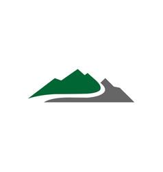 mountain logo template icon design vector image