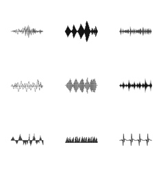 Music track icons set simple style vector image