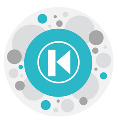 of mp3 symbol on last icon vector image