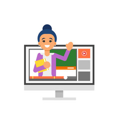 online schooling vector image