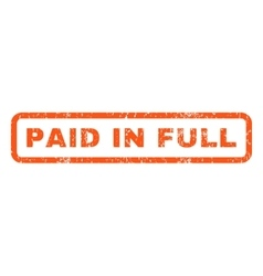 Paid In Full Rubber Stamp vector