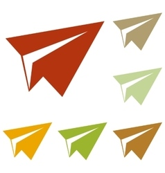 Paper airplane sign vector