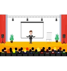 Public speaking concept people sitting vector