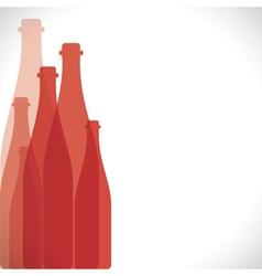 red bottle background vector image vector image