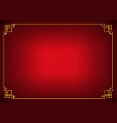 Red chinese fan abstract background vector