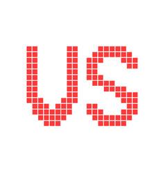 Red versus sign in pixel art vector