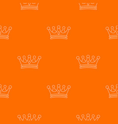 Regal crown pattern orange vector