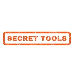 Secret Tools Rubber Stamp vector