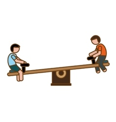 Seesaw playground icon image vector
