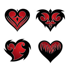 set love tribal icon symbol for graphic and web vector image