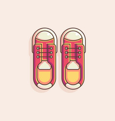 shoes flat vector image