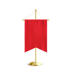 Silk red banner flag with blank copy space hanging vector