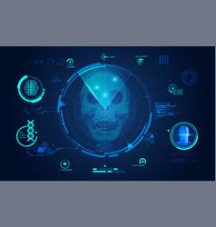 skull scan vector image