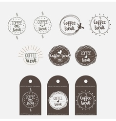 sticker badge coffee shop vector image
