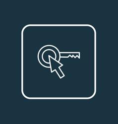 target keyword icon line symbol premium quality vector image
