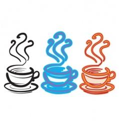 three cups vector image vector image