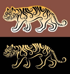 Tiger sticker vector image