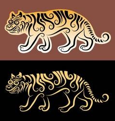 tiger sticker vector image