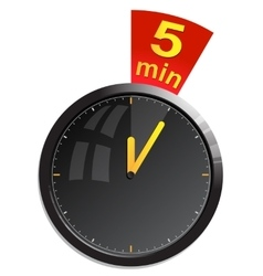 Timer 5 minutes vector