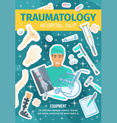 traumatology medical clinic and doctor vector image