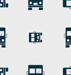 Truck icon sign Seamless pattern with geometric vector image