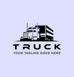 Truck silhouette abstract logo template vintage vector