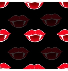 Vampire mouth with red lipstick vector image