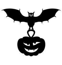 vampire pumpkin vector image