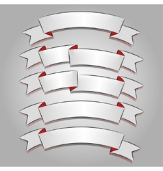 White banners or ribbons set vector image