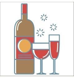 Wine icons collection vector