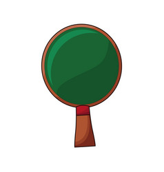 wooden racket ping pong game vector image
